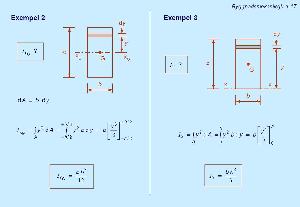 Byggnadsmekanik gk 1.17 Exempel 2 Exempel 3