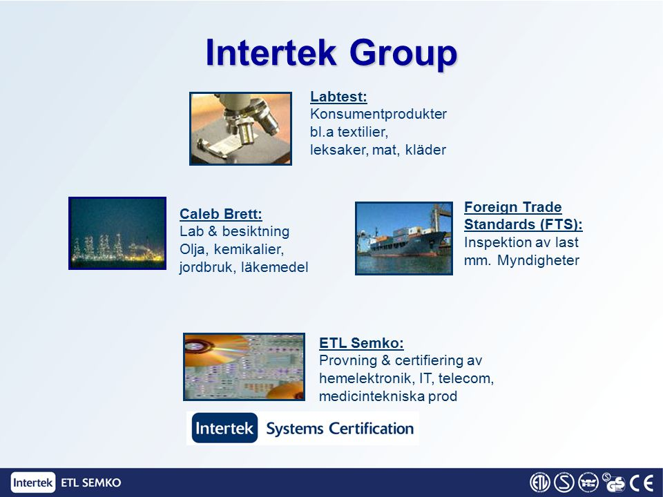 Intertek Group Labtest: