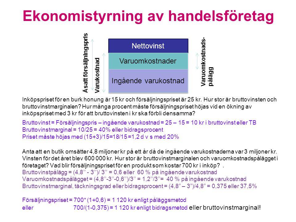 Ekonomistyrning av handelsföretag