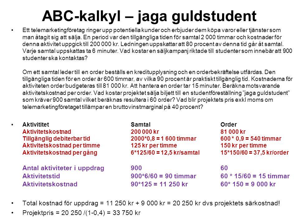 ABC-kalkyl – jaga guldstudent