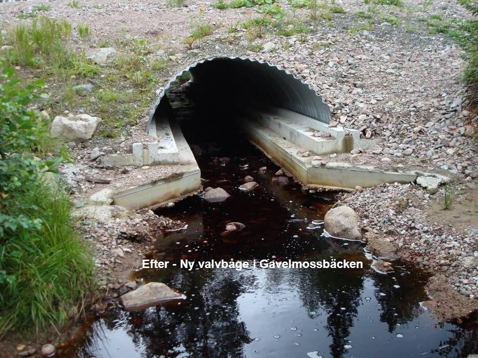 Efter - Ny valvbåge i Gavelmossbäcken