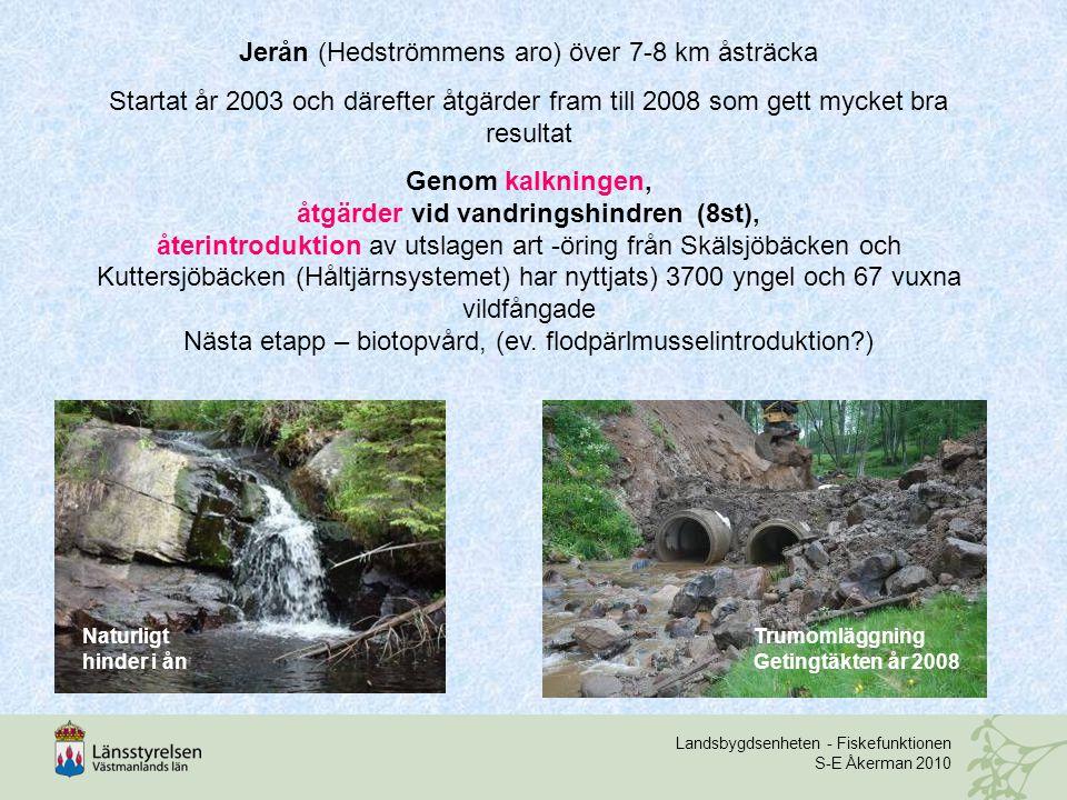 Jerån (Hedströmmens aro) över 7-8 km åsträcka