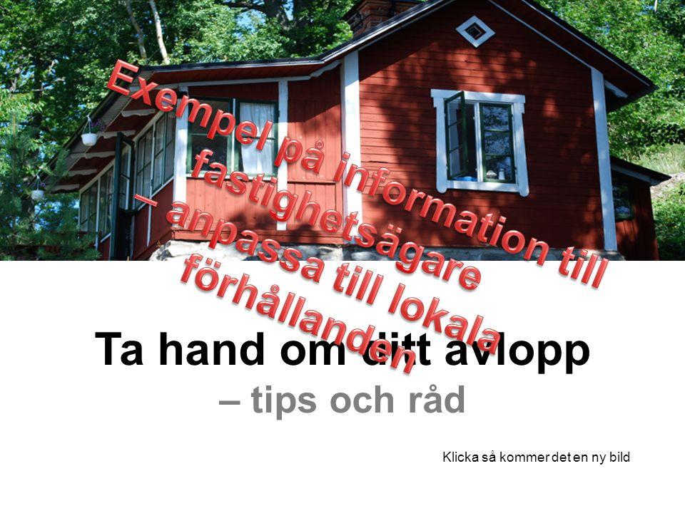 Exempel på information till – anpassa till lokala förhållanden