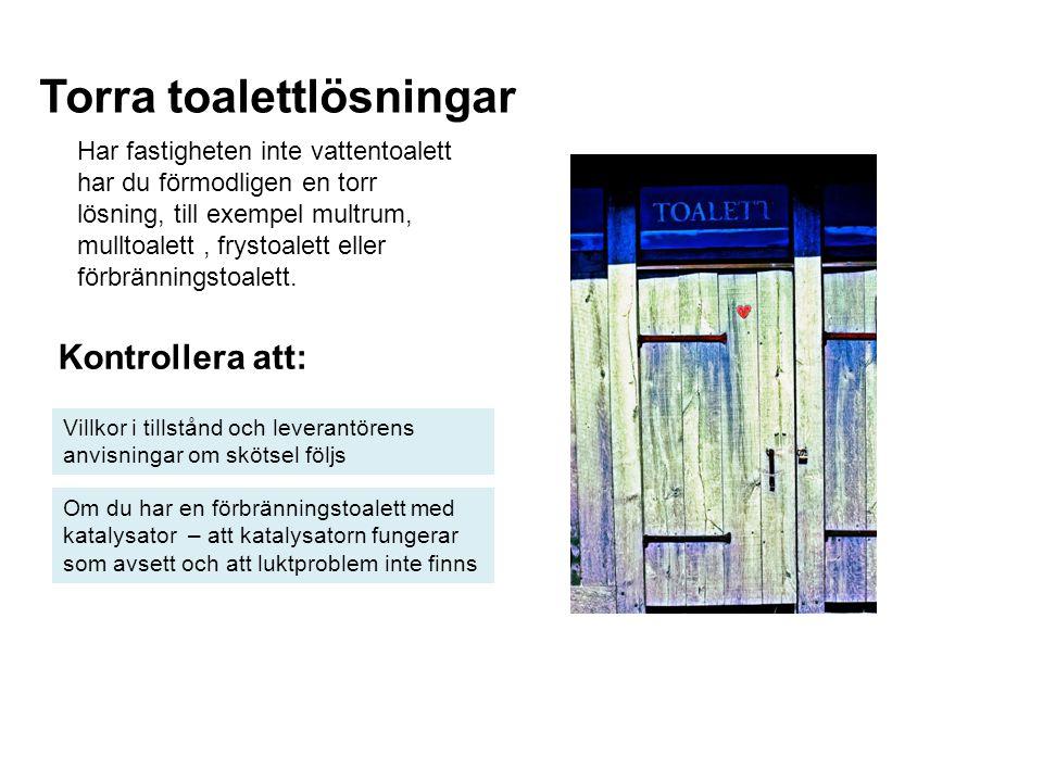 Torra toalettlösningar