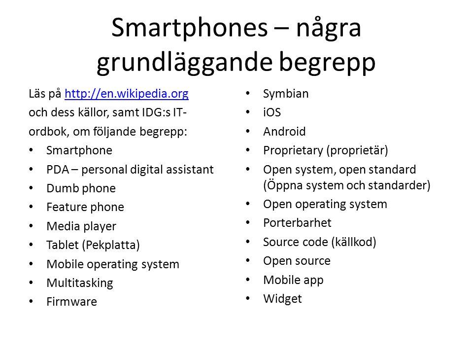 Smartphones – några grundläggande begrepp