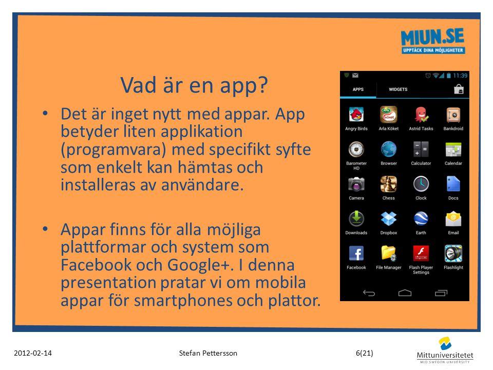 Vad är en app