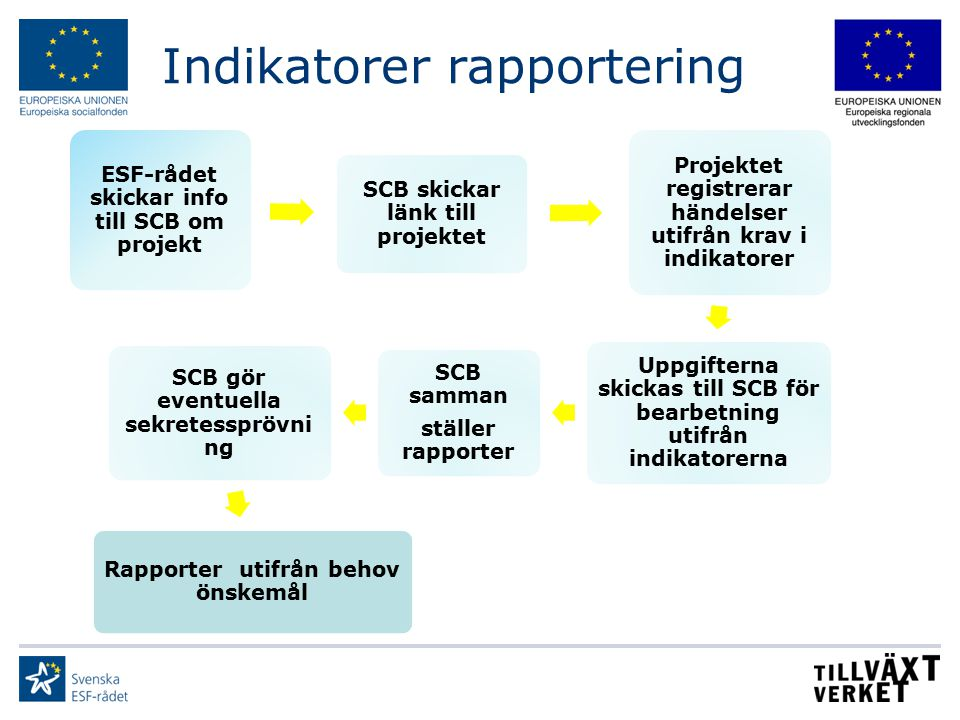 Indikatorer rapportering
