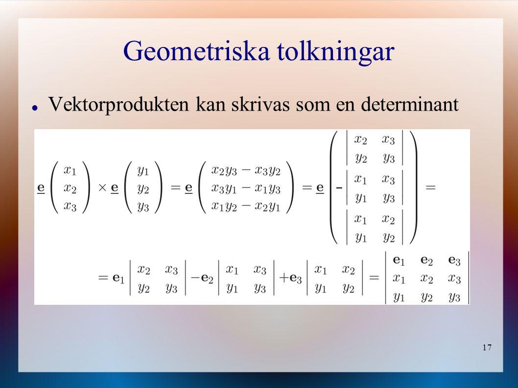 Geometriska tolkningar
