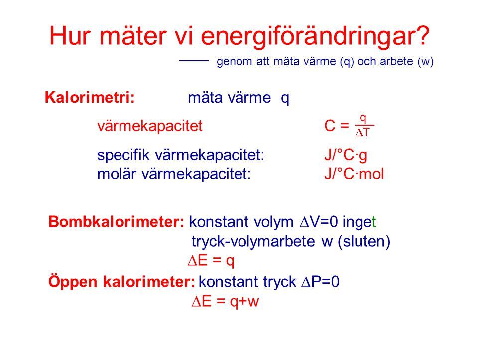 Hur mäter vi energiförändringar