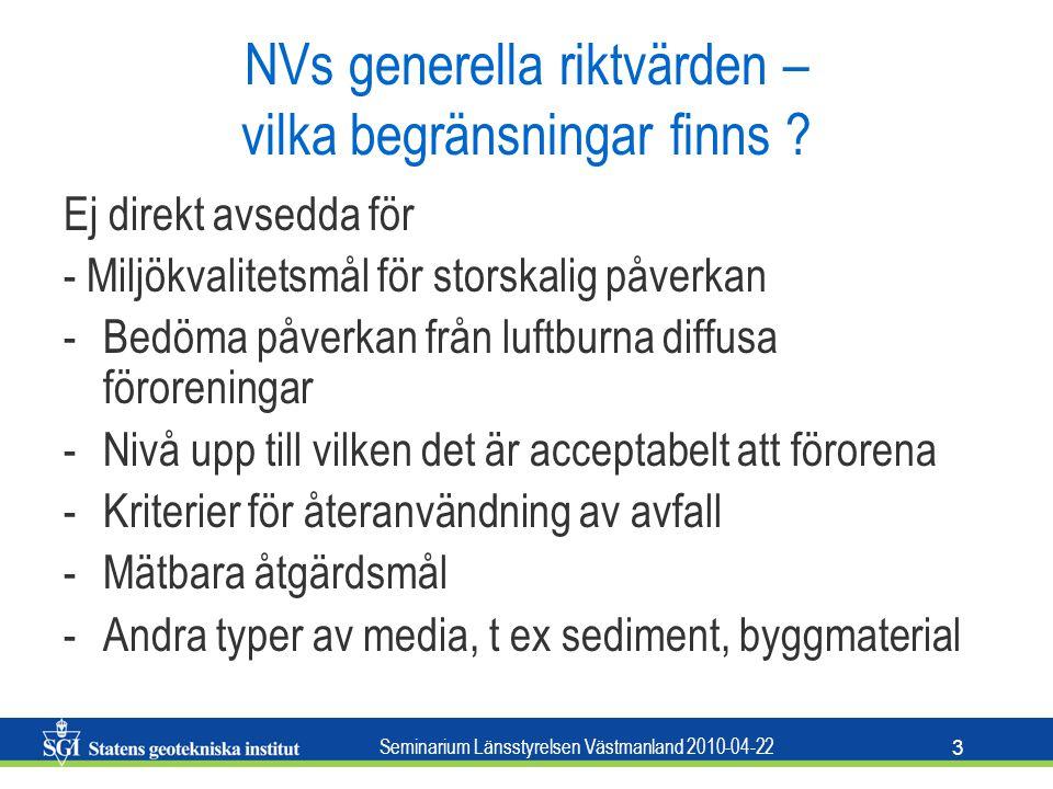 NVs generella riktvärden – vilka begränsningar finns