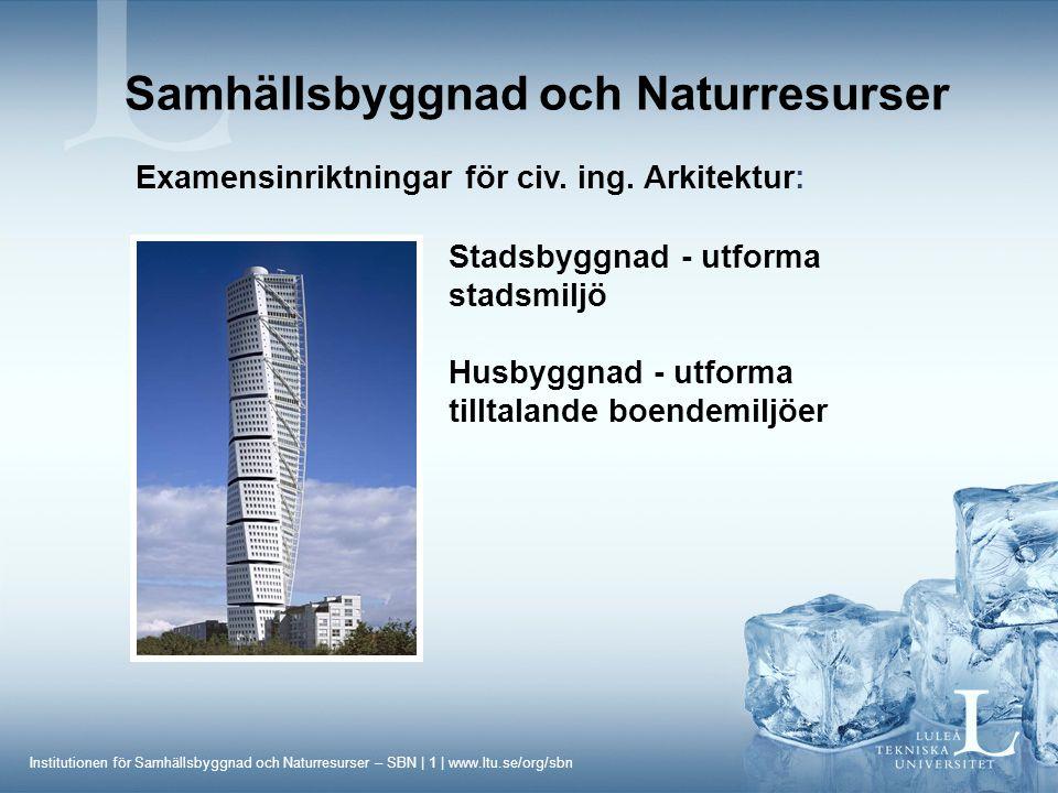 Samhällsbyggnad och Naturresurser