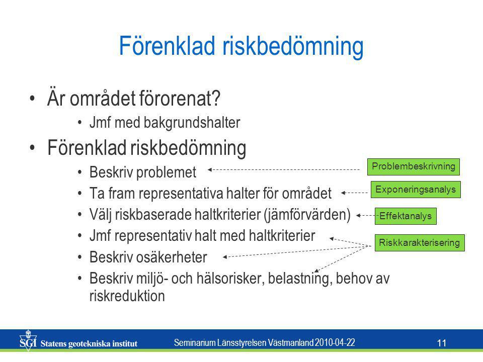 Förenklad riskbedömning