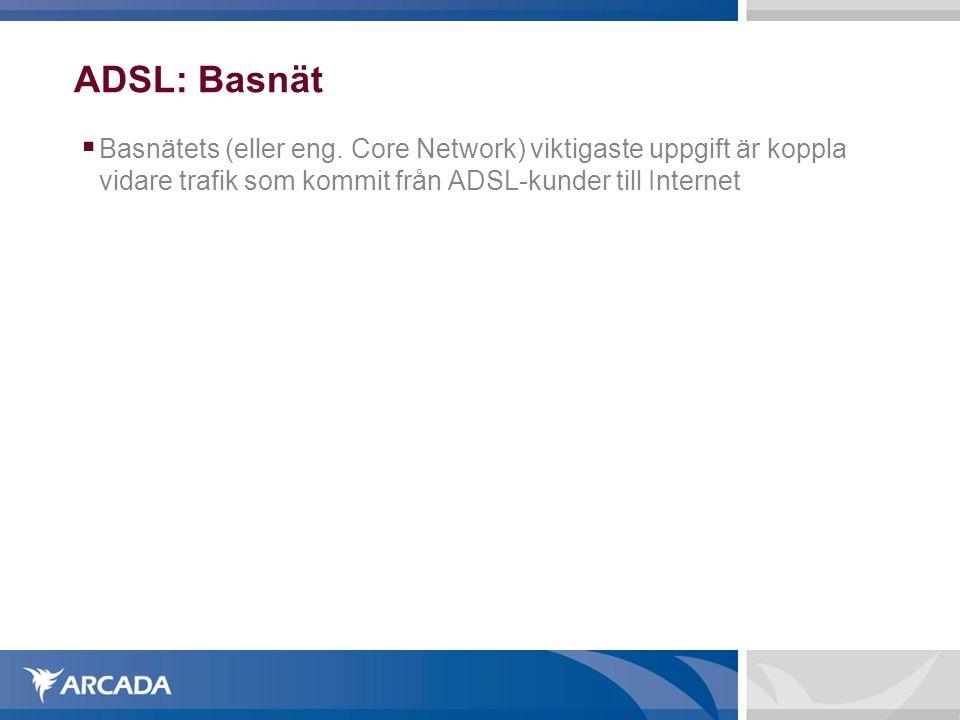 ADSL: Basnät Basnätets (eller eng.