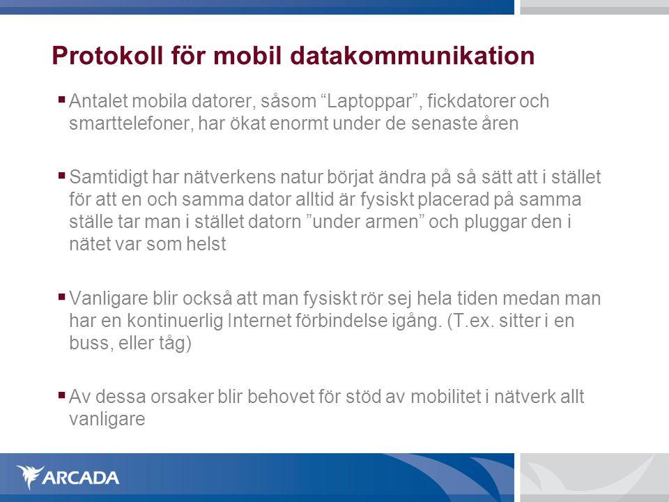 Protokoll för mobil datakommunikation