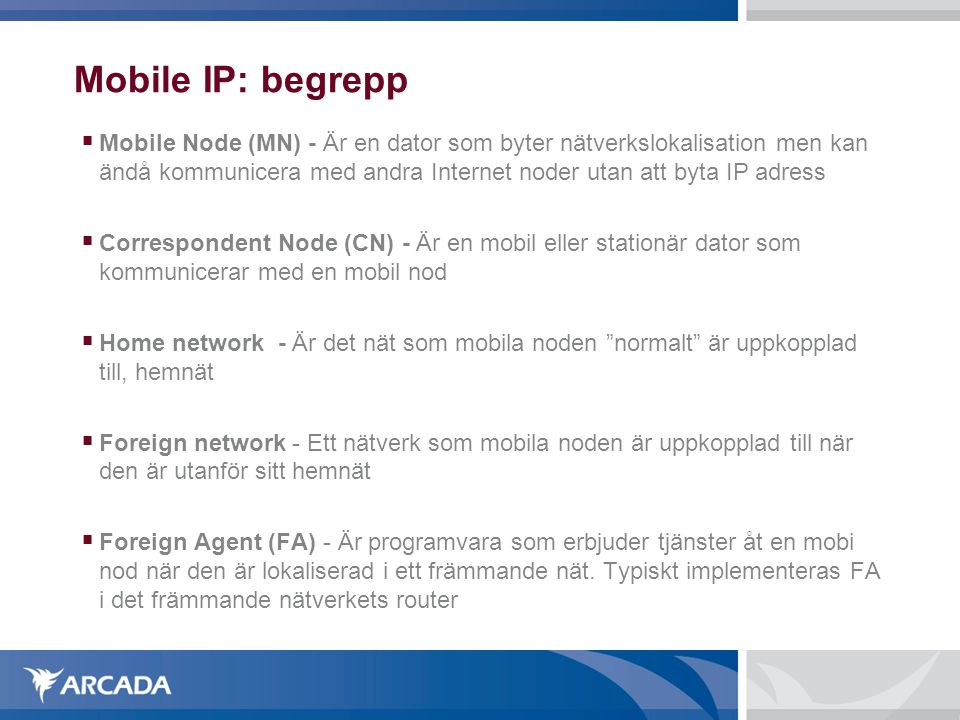 Mobile IP: begrepp