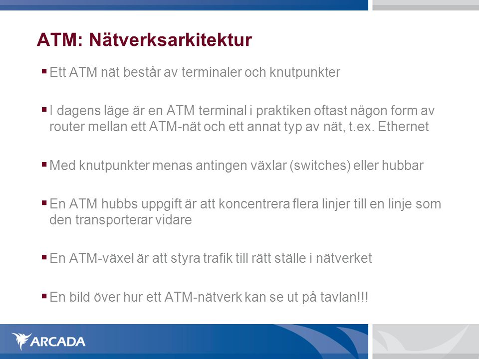 ATM: Nätverksarkitektur