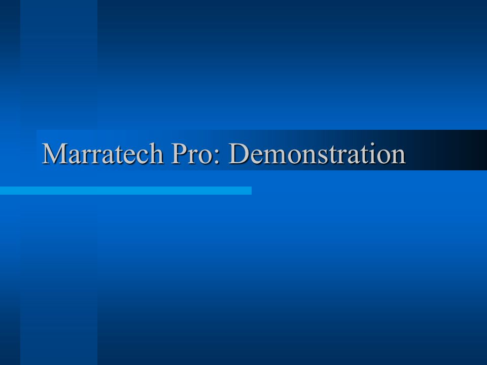 Marratech Pro: Demonstration