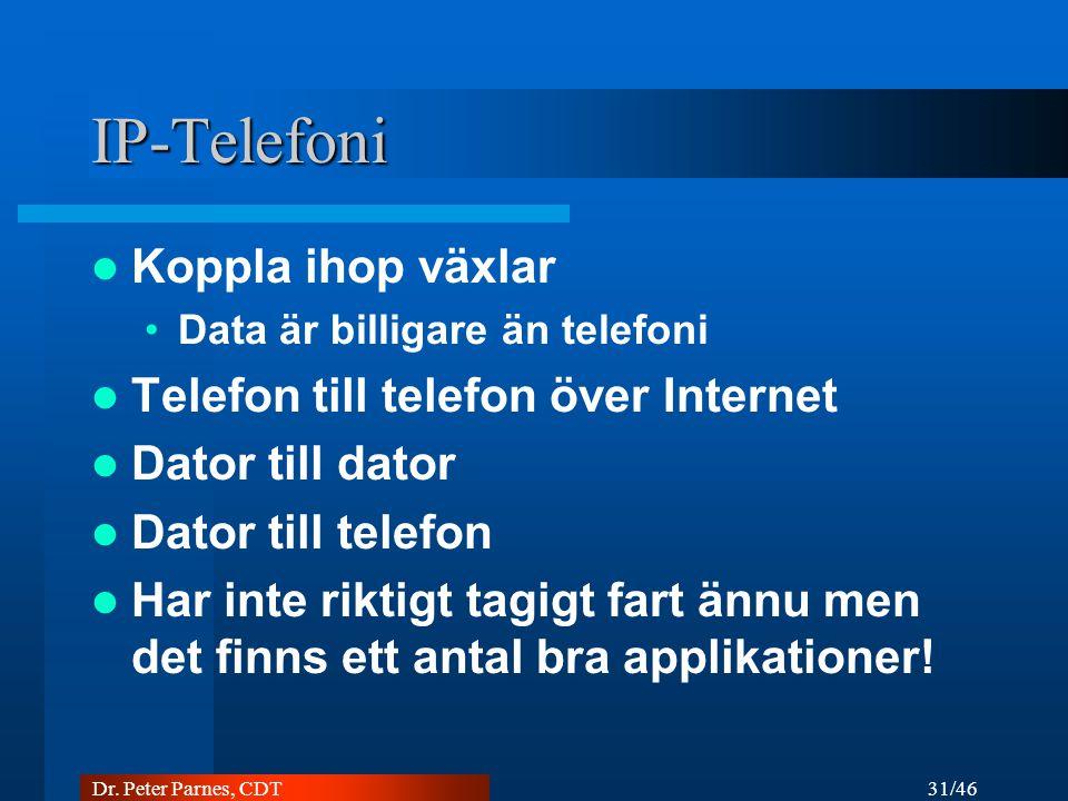 IP-Telefoni Koppla ihop växlar Telefon till telefon över Internet