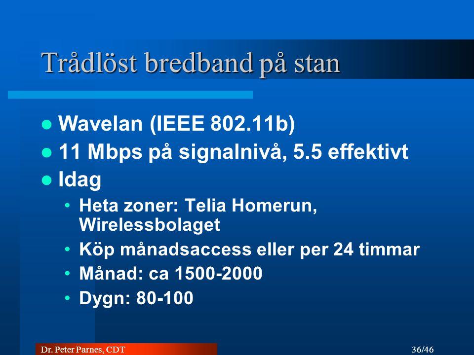 Trådlöst bredband på stan