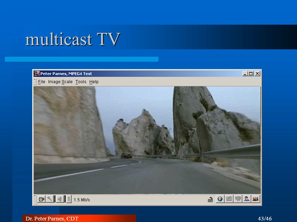 multicast TV Dr. Peter Parnes, CDT 43/46