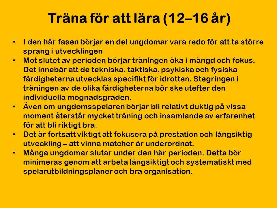 Träna för att lära (12–16 år)
