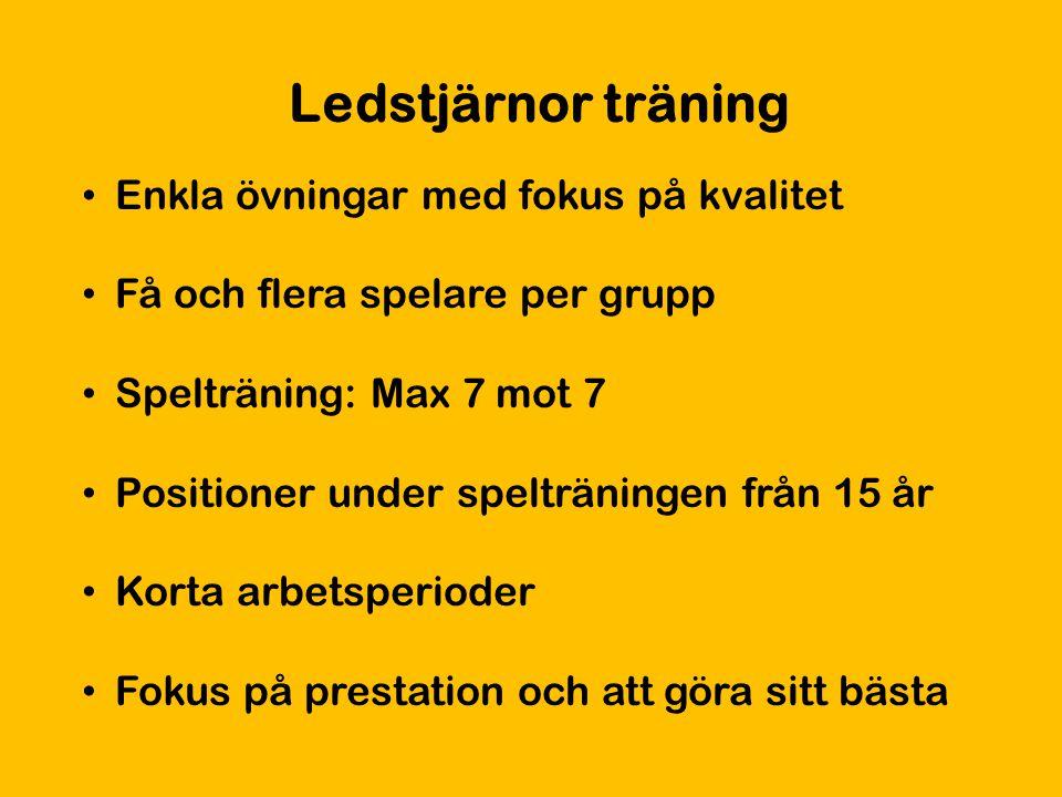 Ledstjärnor träning Enkla övningar med fokus på kvalitet