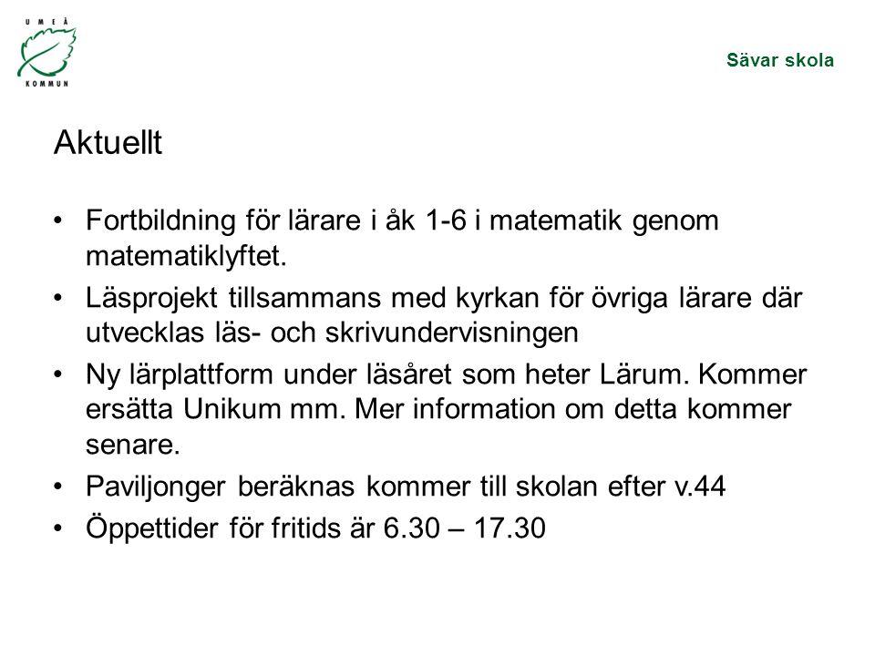 Aktuellt Fortbildning för lärare i åk 1-6 i matematik genom matematiklyftet.