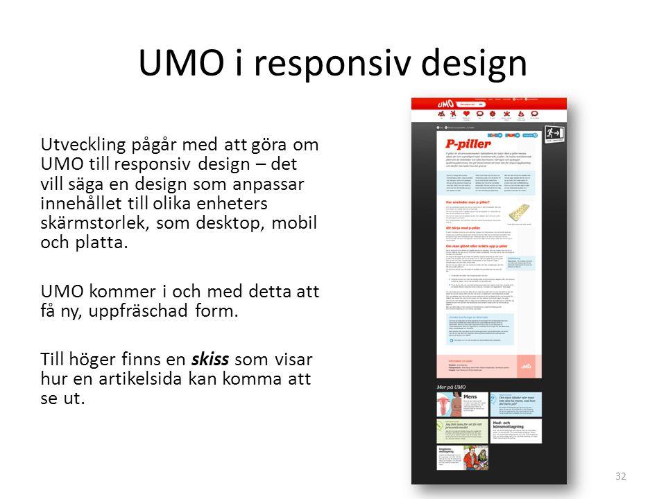 UMO i responsiv design