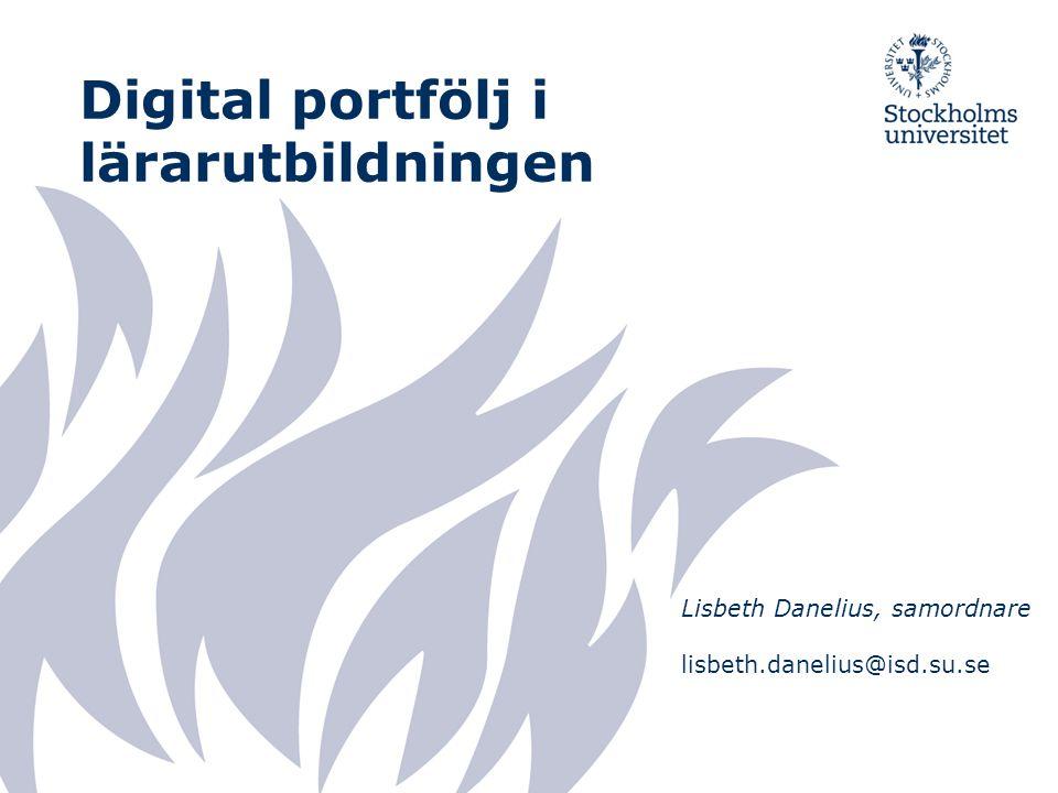 Digital portfölj i lärarutbildningen