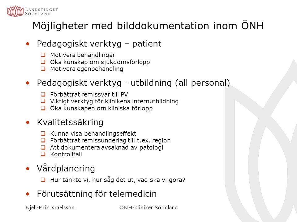 Möjligheter med bilddokumentation inom ÖNH