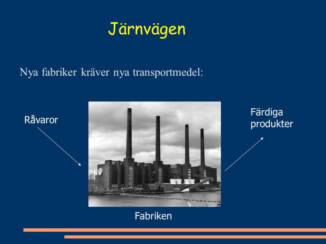 Järnvägen Nya fabriker kräver nya transportmedel: Färdiga produkter