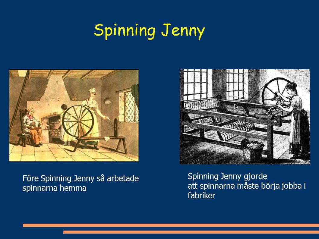 Spinning Jenny Spinning Jenny gjorde Före Spinning Jenny så arbetade