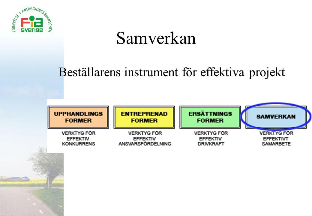Samverkan Beställarens instrument för effektiva projekt