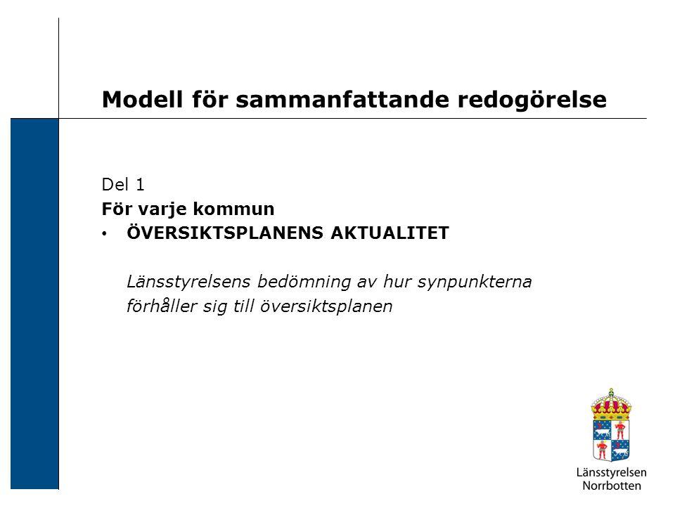 Modell för sammanfattande redogörelse