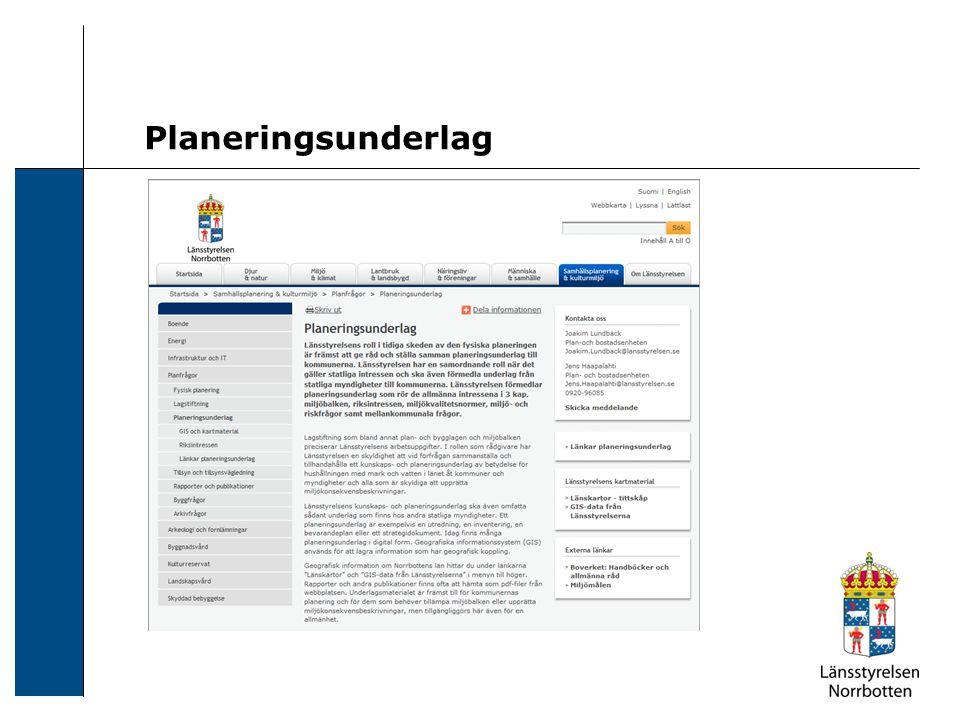 Planeringsunderlag