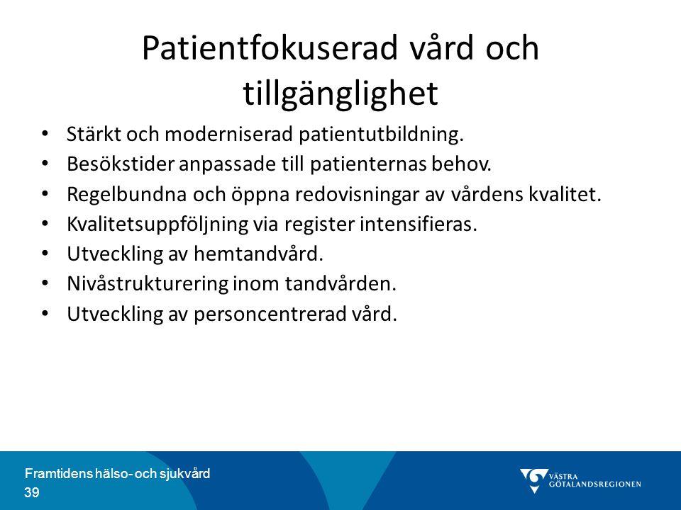 Patientfokuserad vård och tillgänglighet