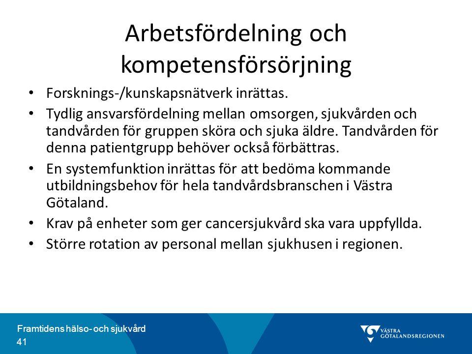 Arbetsfördelning och kompetensförsörjning