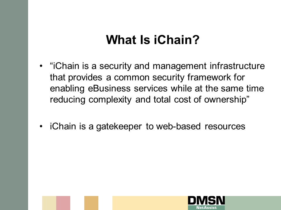 What Is iChain