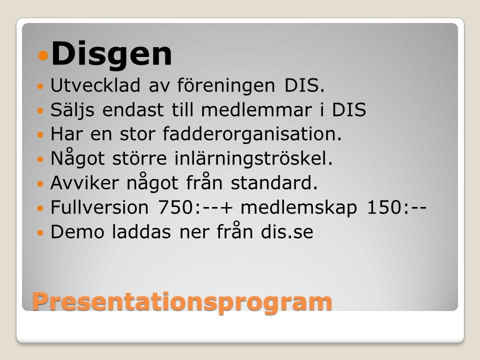 Presentationsprogram