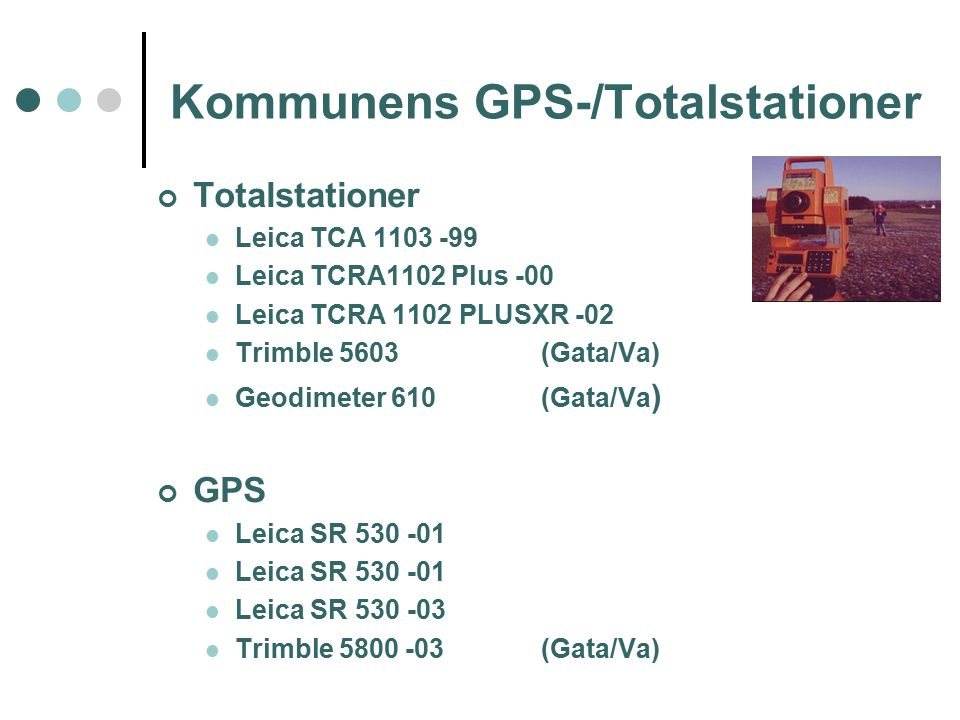 Kommunens GPS-/Totalstationer