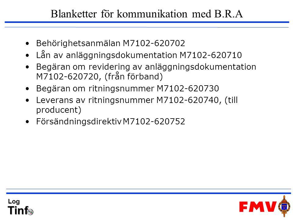 Blanketter för kommunikation med B.R.A