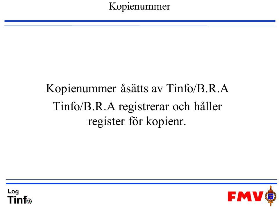 Kopienummer åsätts av Tinfo/B.R.A