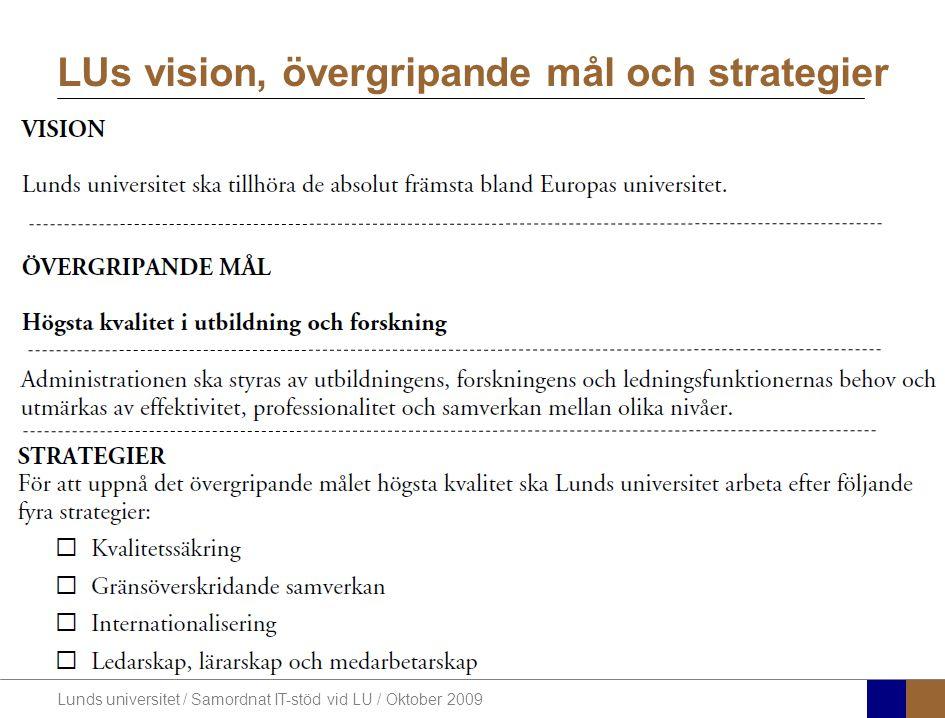 LUs vision, övergripande mål och strategier