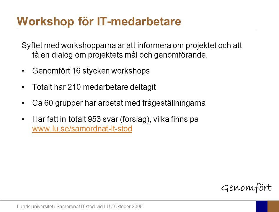 Workshop för IT-medarbetare