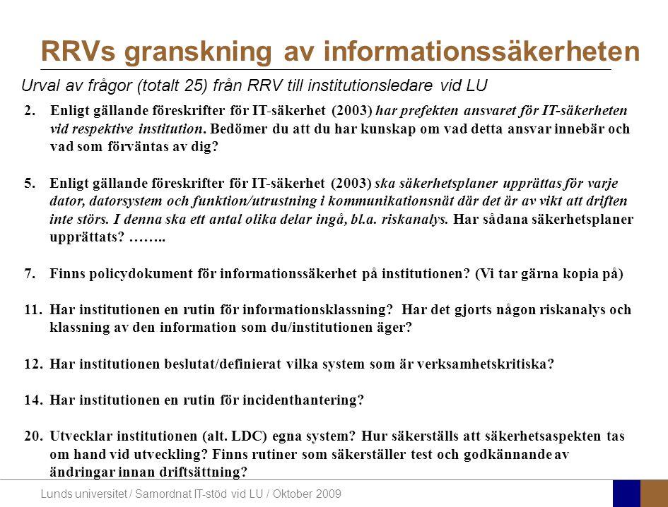 RRVs granskning av informationssäkerheten