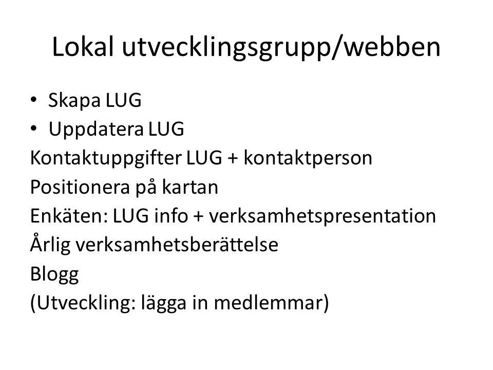 Lokal utvecklingsgrupp/webben