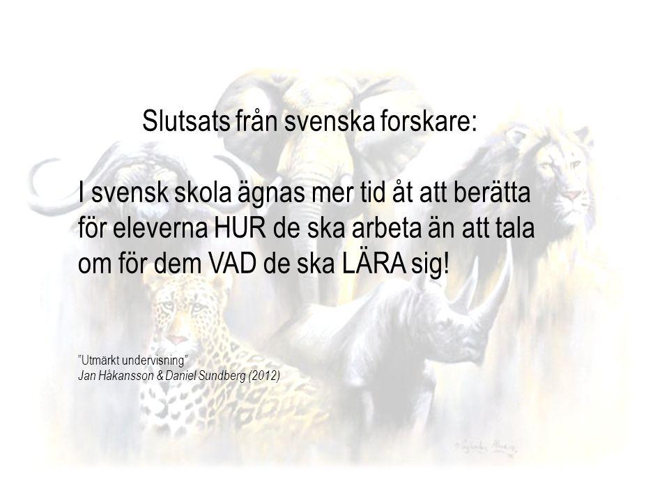 Slutsats från svenska forskare: