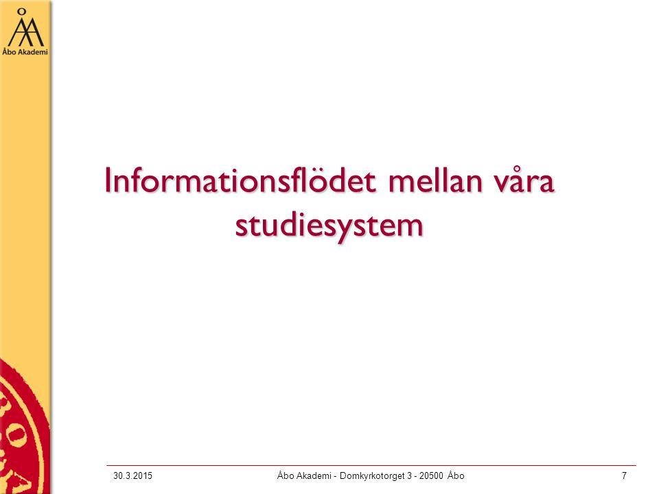 Informationsflödet mellan våra studiesystem
