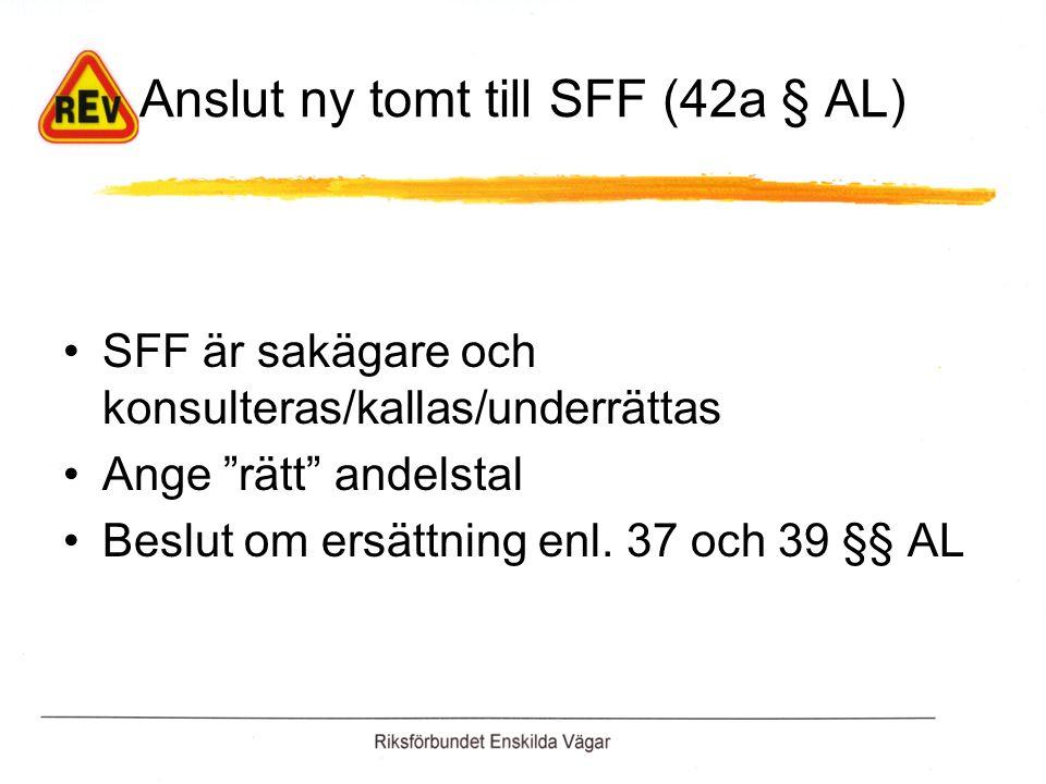 Anslut ny tomt till SFF (42a § AL)