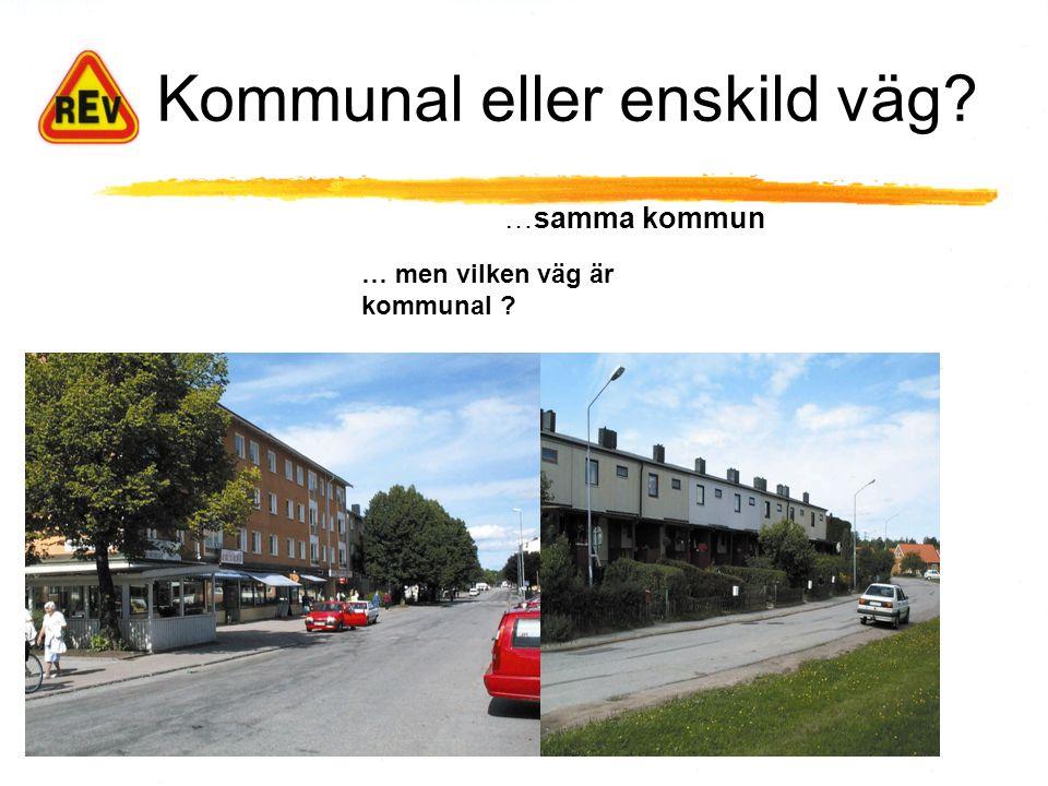 Kommunal eller enskild väg